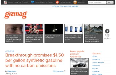 http://www.gizmag.com/breakthrough-promises-150-per-gallon-synthetic-gasoline-with-no-carbon-emissions/17687/