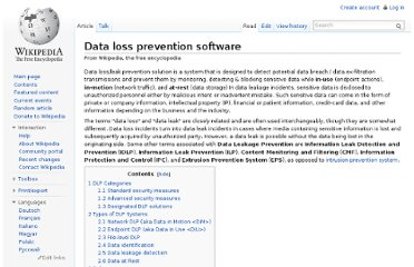 http://en.wikipedia.org/wiki/Data_loss_prevention_software