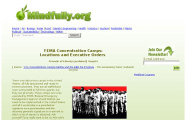 http://www.mindfully.org/Reform/2004/FEMA-Concentration-Camps3sep04.htm