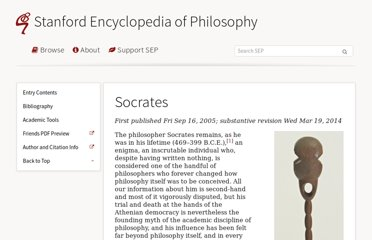http://plato.stanford.edu/entries/socrates/