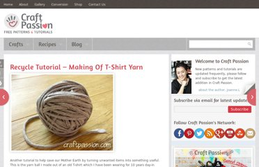 http://www.craftpassion.com/2009/05/recycle-tutorial-making-of-t-shirt-yarn.html