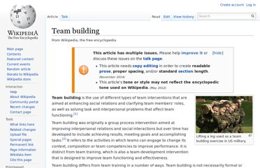 http://en.wikipedia.org/wiki/Team_building