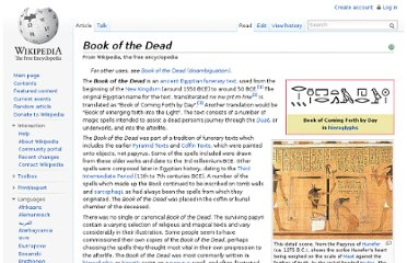 http://en.wikipedia.org/wiki/Book_of_the_Dead