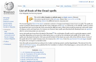 http://en.wikipedia.org/wiki/List_of_Book_of_the_Dead_spells