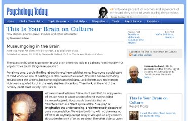 http://www.psychologytoday.com/blog/is-your-brain-culture/201101/museumgoing-in-the-brain