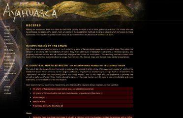 http://www.ayahuasca-info.com/recipes/