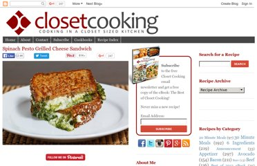 http://www.closetcooking.com/2010/05/spinach-pesto-grilled-cheese-sandwich.html
