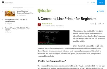 http://lifehacker.com/5633909/who-needs-a-mouse-learn-to-use-the-command-line-for-almost-anything