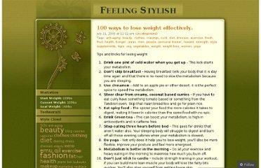 http://feelingstylish.wordpress.com/2009/07/21/100-ways-to-lose-weight-effectively/