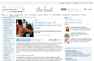 http://wedding.theknot.com/wedding-planning/wedding-music-ideas/articles/wedding-songs-for-your-style.aspx