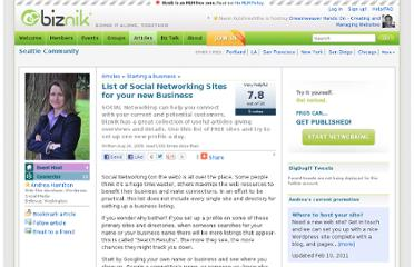 http://biznik.com/articles/list-of-social-networking-sites-for-your-new-business
