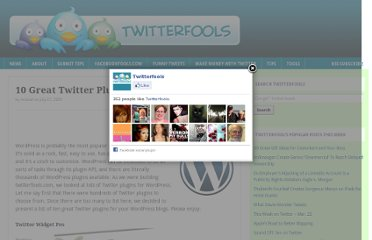 http://www.twitterfools.com/news/10-great-twitter-plugins-for-wordpress/