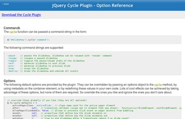 http://jquery.malsup.com/cycle/options.html