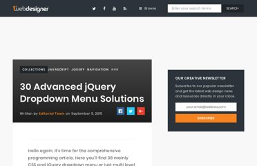 http://www.1stwebdesigner.com/css/38-jquery-and-css-drop-down-multi-level-menu-solutions/