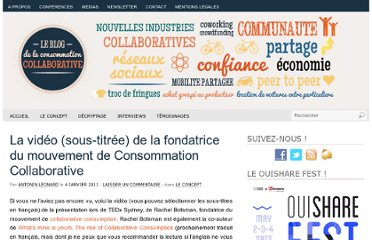 http://www.consommationcollaborative.com/537-la-video-sous-titree-de-la-fondatrice-du-mouvement-de-consommation-collaborative.html