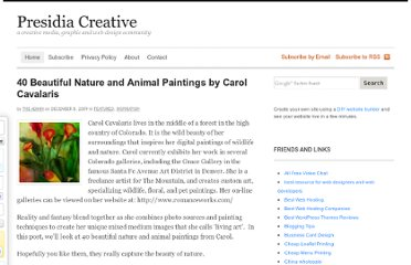 http://www.presidiacreative.com/40-beautiful-nature-and-animal-paintings-by-carol-cavalaris/