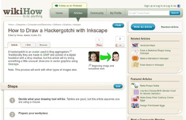 http://www.wikihow.com/Draw-a-Hackergotchi-with-Inkscape
