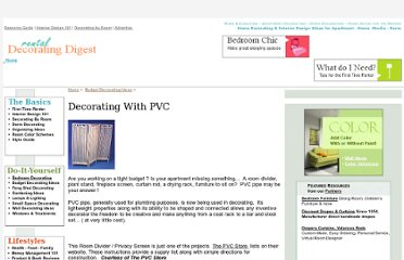 http://www.rentaldecorating.com/BudgetDecor/decorating_with_pvc.htm