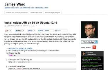 http://www.jamesward.com/2010/10/14/install-adobe-air-on-64-bit-ubuntu-10-10/