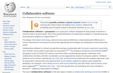 http://en.wikipedia.org/wiki/Collaborative_software