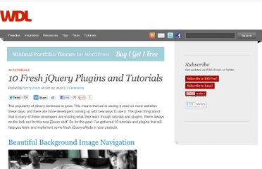 http://webdesignledger.com/tutorials/10-fresh-jquery-plugins-and-tutorials