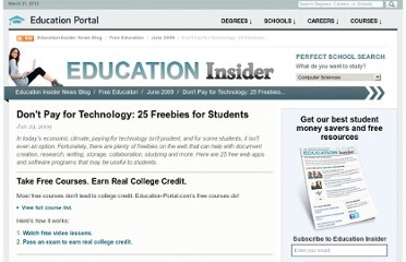 http://education-portal.com/articles/Dont_Pay_for_Technology_25_Freebies_for_Students.html