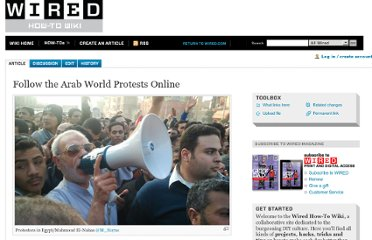 http://howto.wired.com/wiki/Follow_the_Arab_World_Protests_Online