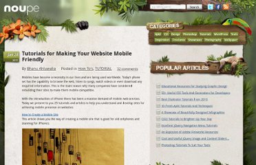 http://www.noupe.com/how-tos/tutorials-for-making-your-website-mobile-friendly.html