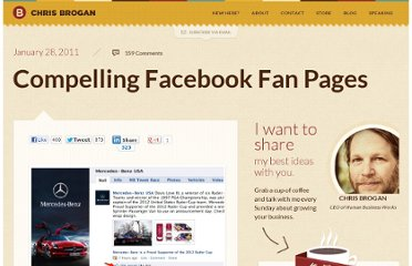 http://www.chrisbrogan.com/compelling-facebook-fan-pages/