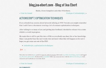 http://blog.joa-ebert.com/2008/04/26/actionscript-3-optimization-techniques/