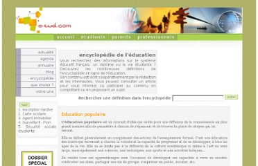 http://www.e-tud.com/encyclopedie-education/?45-education-populaire