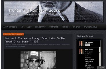 http://hstbooks.org/2008/08/03/hunter-s-thompson-essay-open-letter-to-the-youth-of-our-nation-1955/