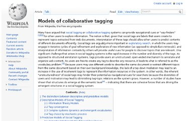http://en.wikipedia.org/wiki/Models_of_collaborative_tagging