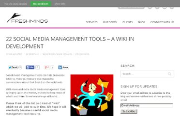 http://www.freshnetworks.com/blog/2011/01/25-social-media-management-tools-list-wiki/