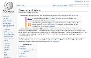 http://en.wikipedia.org/wiki/Government_failure