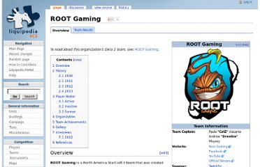 http://wiki.teamliquid.net/starcraft2/Root_Gaming