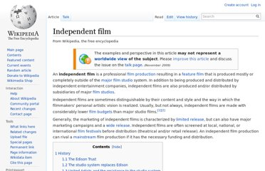 http://en.wikipedia.org/wiki/Independent_film