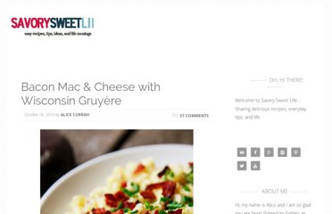 http://savorysweetlife.com/2010/10/bacon-mac-cheese-with-wisconsin-gruyere/