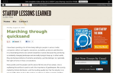 http://www.startuplessonslearned.com/2009/08/marching-through-quicksand.html