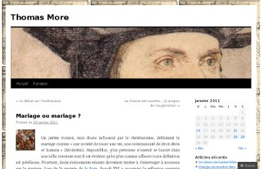 http://thomasmore.wordpress.com/2011/01/29/mariage-ou-mariage-gay/