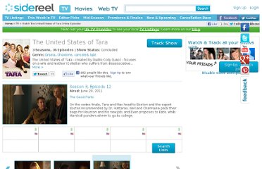 http://www.sidereel.com/The_United_States_of_Tara