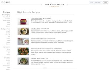 http://www.101cookbooks.com/high_protein_recipes/