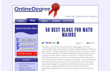 http://www.onlinedegree.net/50-best-blogs-for-math-majors/