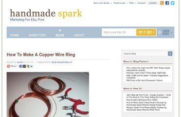 http://www.handmadespark.com/blog/how-to-make-a-copper-wire-ring/