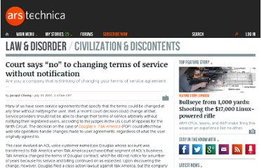 http://arstechnica.com/news.ars/post/20070729-court-says-no-to-changing-terms-of-service-without-notification.html?rel
