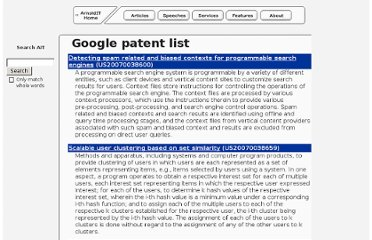 http://www.arnoldit.com/lists/google-patents.asp