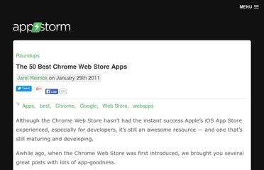 http://web.appstorm.net/roundups/the-50-best-chrome-web-store-apps/