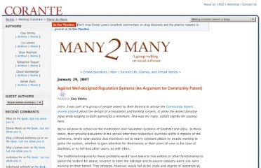http://many.corante.com/archives/2007/01/29/against_welldesigned_reputation_systems_an_argument_for_community_patent.php
