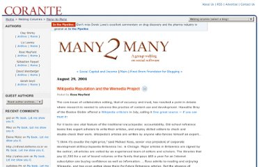 http://many.corante.com/archives/2004/08/29/wikipedia_reputation_and_the_wemedia_project.php