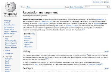 http://en.wikipedia.org/wiki/Reputation_management